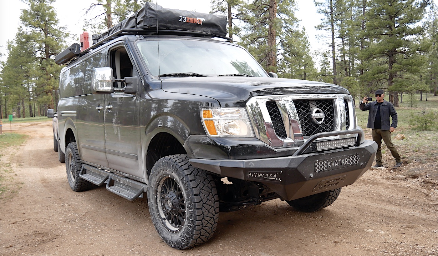 Nissan Nv 4x4 A Massive Overland Van With A V8 And A Factory Warranty Video The Fast Lane Truck
