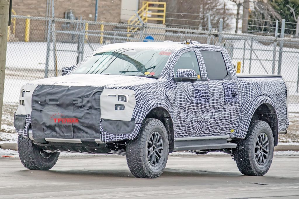 Video: 2023 Ford Ranger Raptor Caught Testing With The Bronco Warthog!